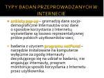 typy bada przeprowadzanych w internecie1