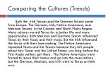 comparing the cultures trends