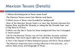 mexican texans details