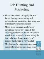job hunting and marketing