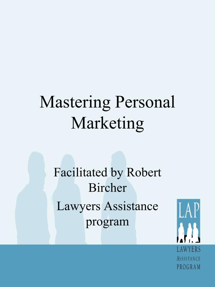 mastering personal marketing n.