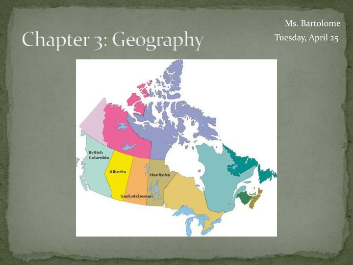 chapter 3 geography n.