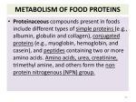 metabolism of food proteins