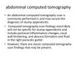 abdominal computed tomography