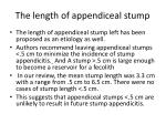 the length of appendiceal stump