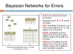 bayesian networks for errors