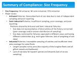summary of compliance size frequency