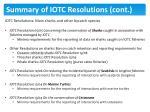 summary of iotc resolutions cont