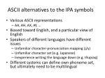 ascii alternatives to the ipa symbols