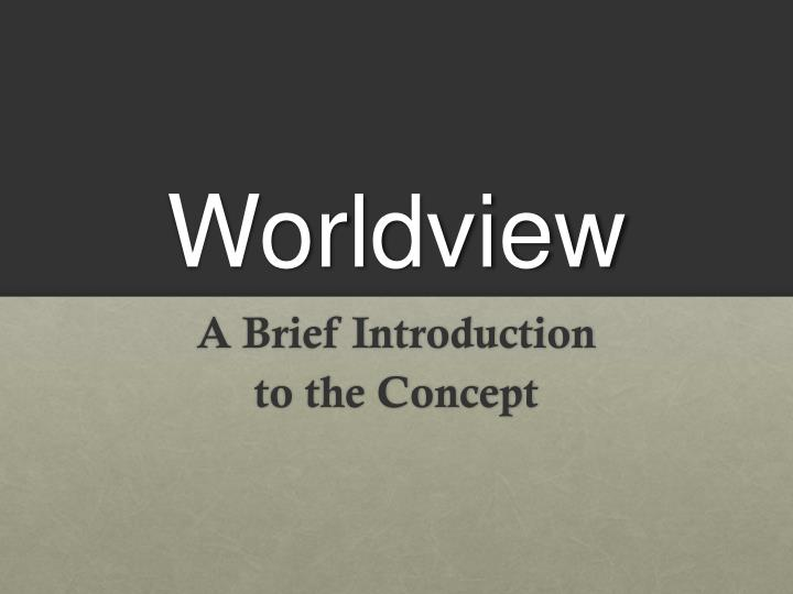 worldview n.