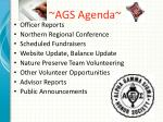 ags agenda