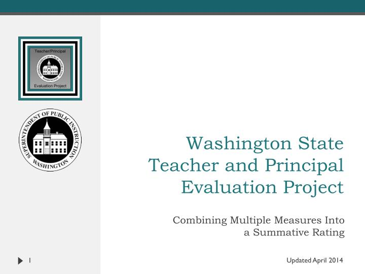 washington state teacher and principal evaluation project n.