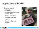 application of popia