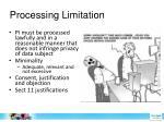 processing limitation