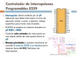 controlador de interrupciones programables 8259