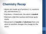 chemistry recap