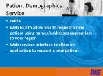 patient demographics service