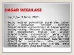 dasar regulasi