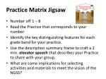 practice matrix jigsaw