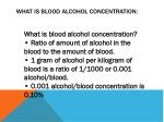 what is blood alcohol concentration