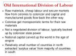old international division of labour