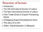 structure of lecture