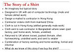 the story of a shirt