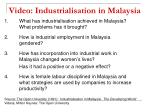 video industrialisation in malaysia