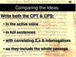 comparing the ideas