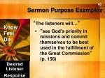 sermon purpose examples1