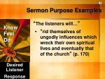 sermon purpose examples2