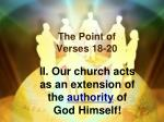 the point of verses 18 20
