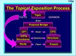 the topical exposition process