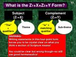what is the z 1 x z 2 y form