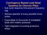 contingency based load shed systems for chevron plant