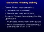 economics affecting stability
