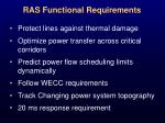 ras functional requirements
