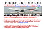 introduction of airbus 380