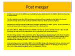 post merger