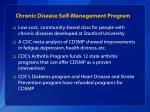 chronic disease self management program