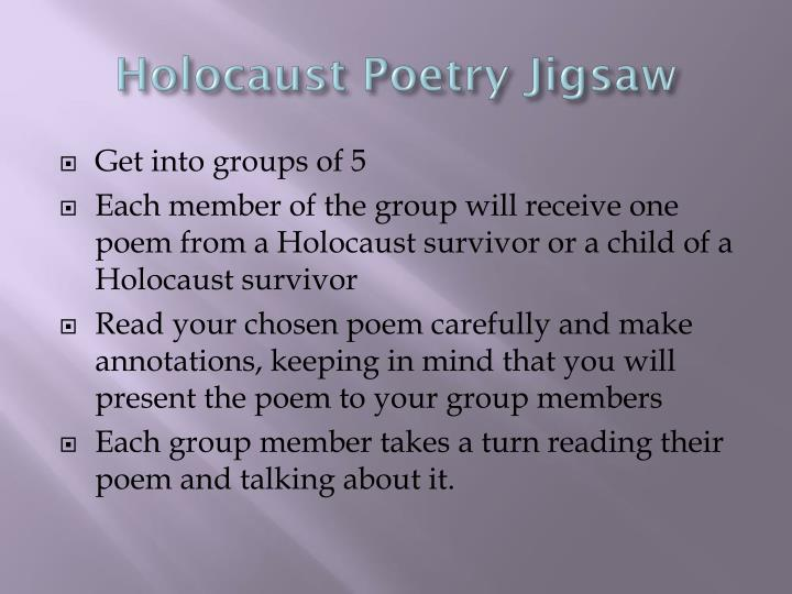 holocaust poetry jigsaw n.