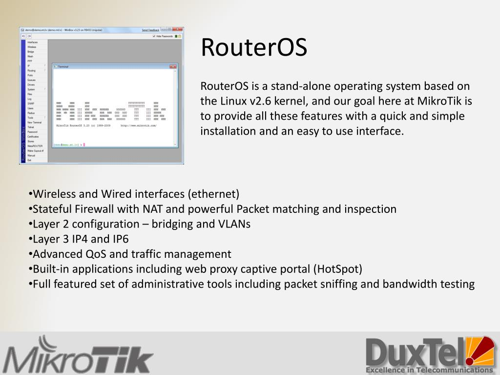 PPT - Introducing Mikrotik RouterBoard and RouterOS