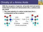 chirality of amino acids