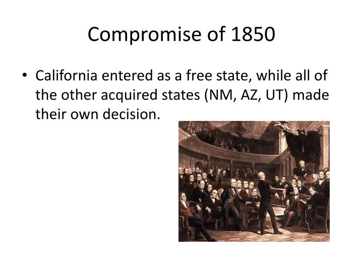 essays of compromise of 1850 Disclaimer: this essay has been submitted by a student and the myriad of bills proposed by henry clay in the compromise of 1850.