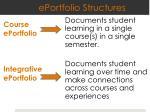 eportfolio structures