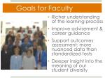goals for faculty