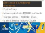 showcase credential eportfolios
