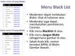 menu black list