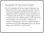 conquest of the inca empire