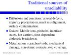 traditional sources of unreliability